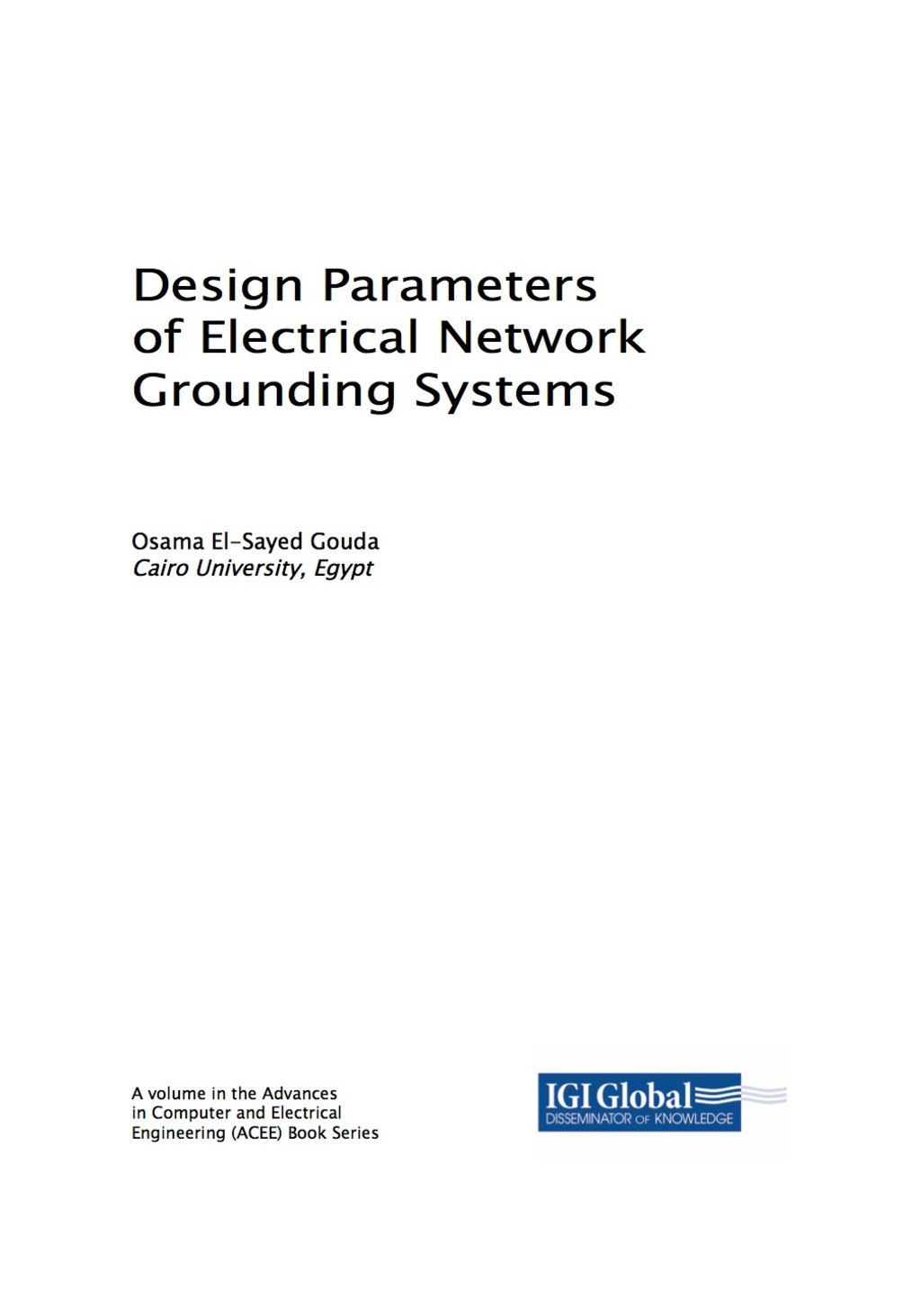 Design Parameters Of Electrical Network Grounding Systems Ebook