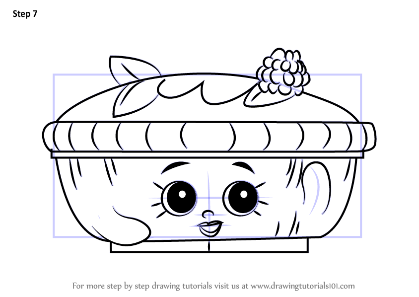 How To Draw Queen Of Tarts From Shopkins Drawingtutorials101 Com