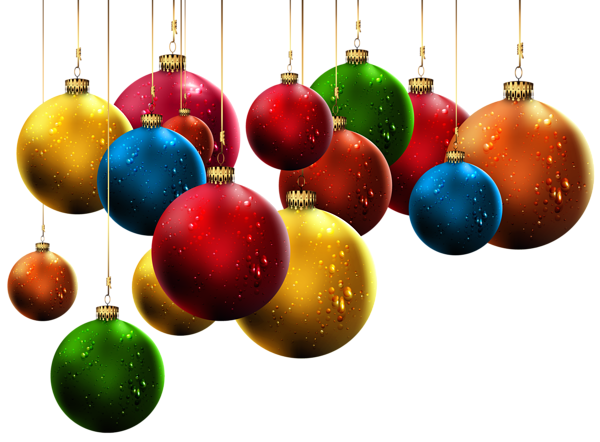 Hanging Christmas Balls PNG ClipArt Image Christmas