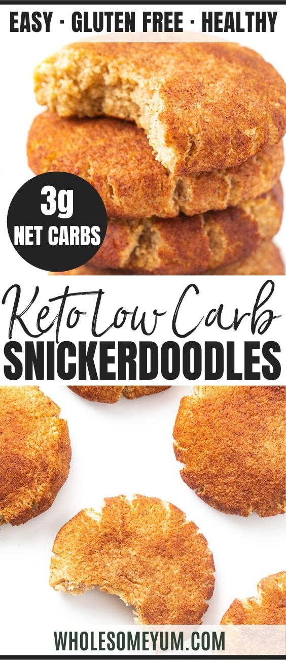 Low Carb Keto Snickerdoodles Cookie Recipe | Wholesome Yum
