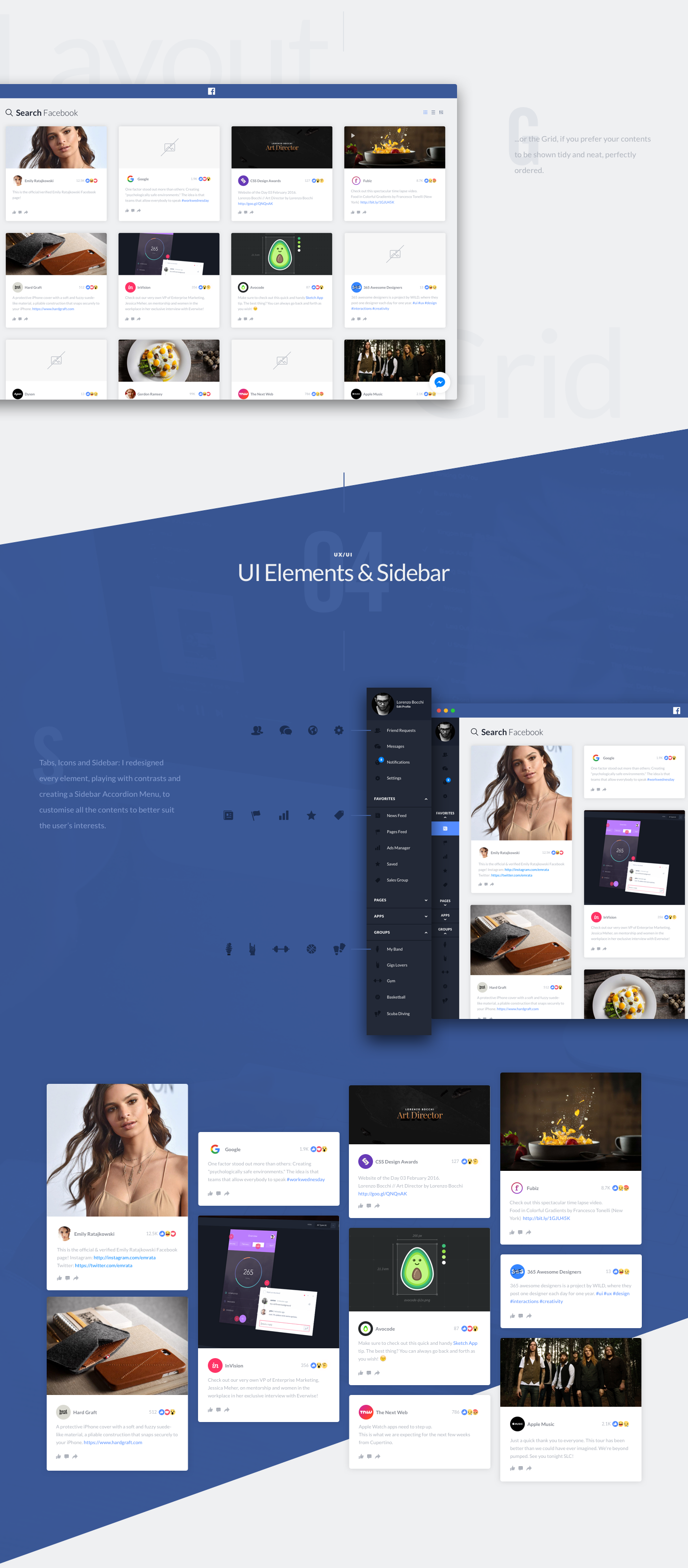 This project is a Visual Concept of the Design of Facebook OS X, and the Second Volume of my Freebies Collection. Scroll to the bottom and download the .Sketch file for Free.Hope you'll like it!http://freebies.lorenzobocchi.com/