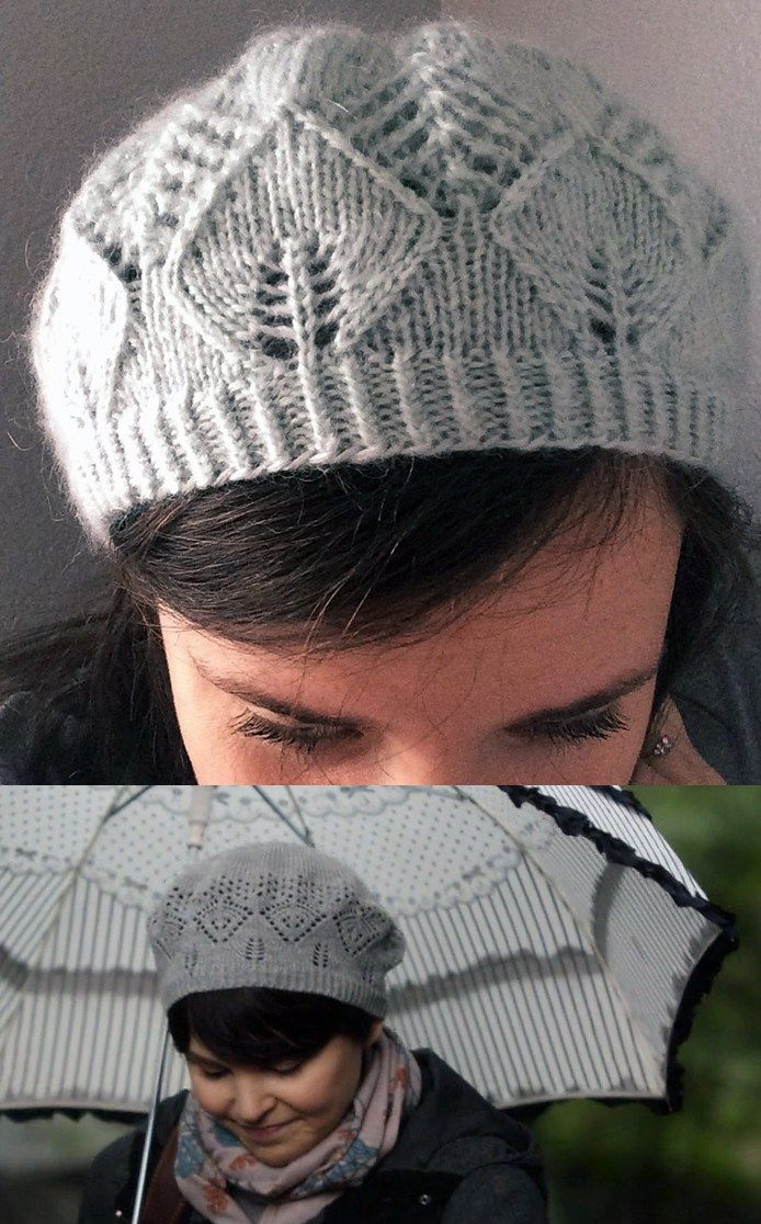 cef5481fa8863 Free Knitting Pattern for Mary Margaret s Lace Tam - Mary Craver created  this hat pattern that replicates the lace beret hat worn by Mary Margaret    Snow ...