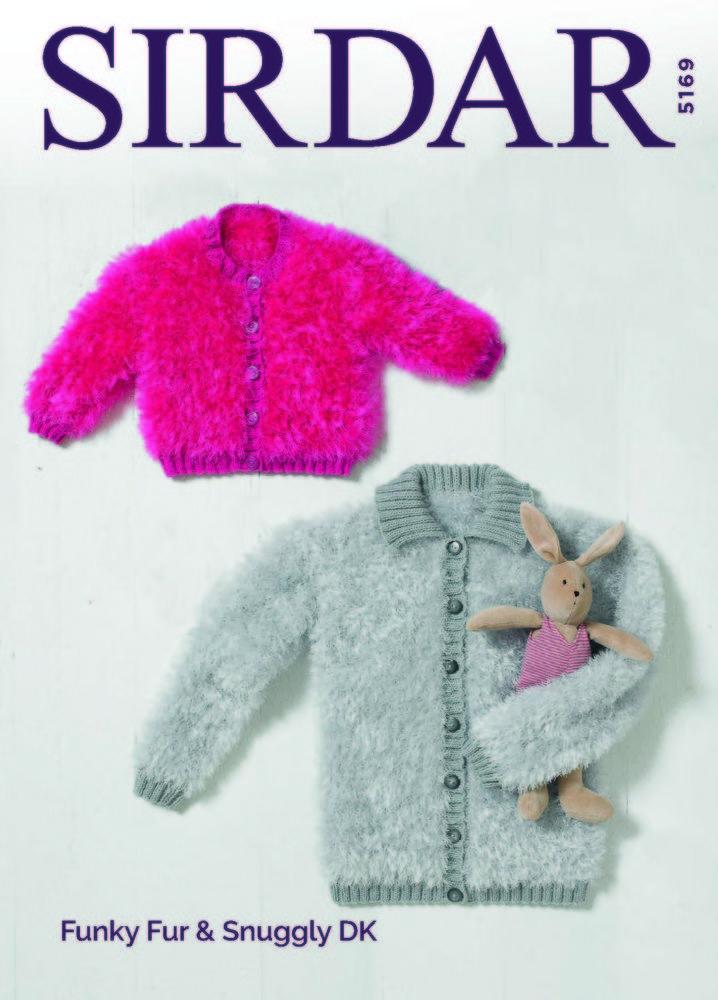 Cardigans In Sirdar Funky Fur Snuggly Dk 5169 Downloadable Pdf