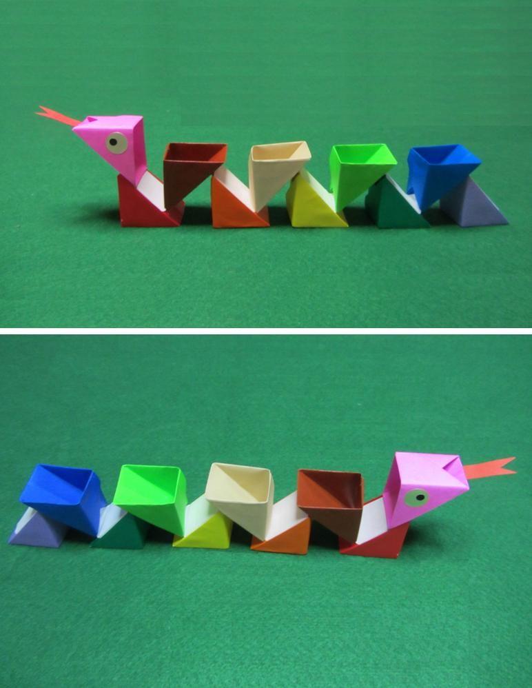 Serpente em origami