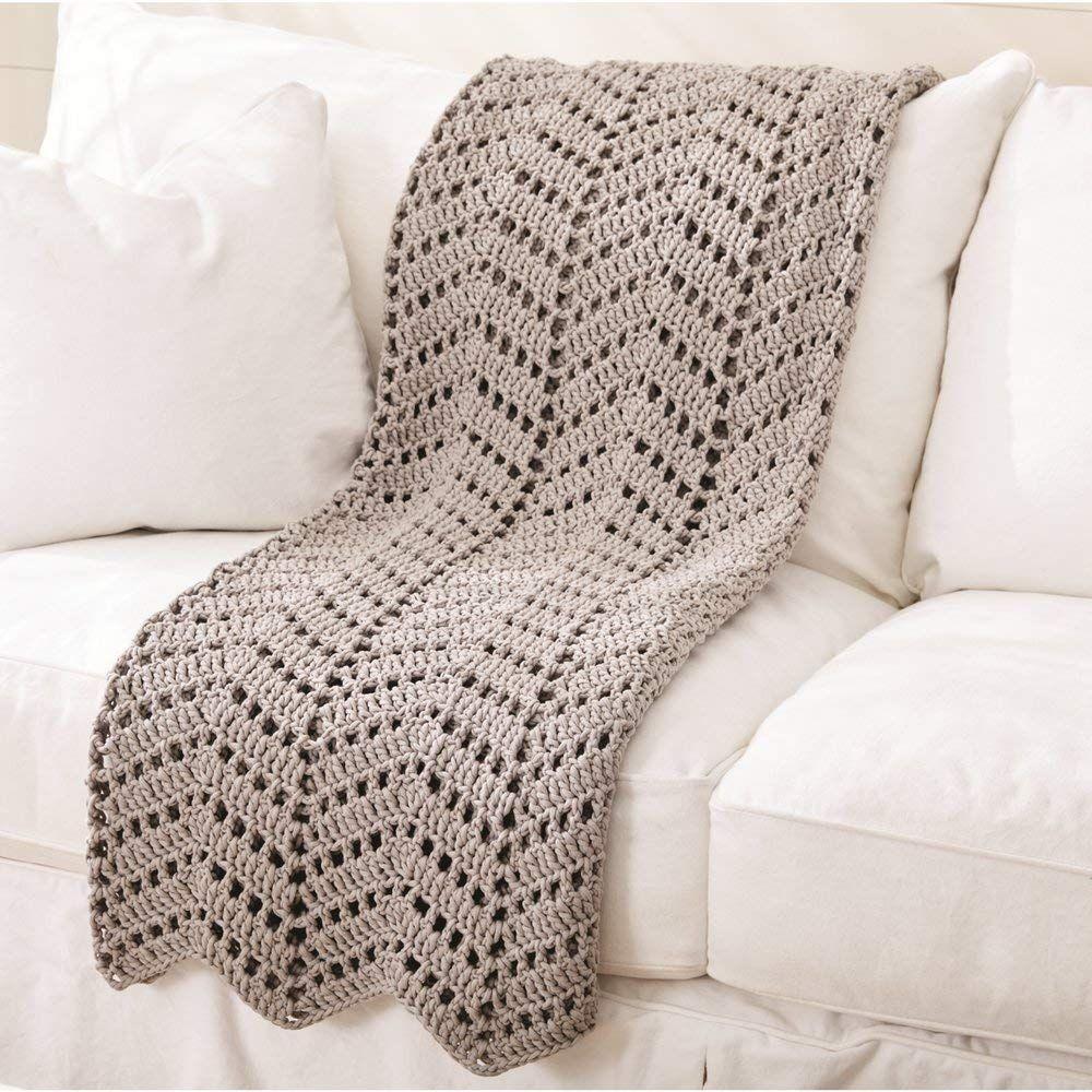 Guage 5 Bulky Chunky Bernat Maker Home Dec Yarn Cream 8.8oz