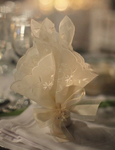 Jordan Almonds Wrapped In Handkerchiefs Make A Pretty Wedding Favor Presentation See More Candy