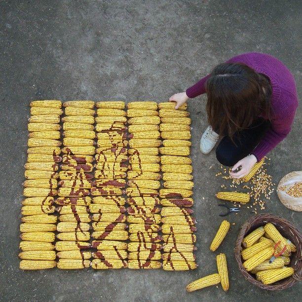 """""""Horseman"""" - Corn art  #horseman #corn"""
