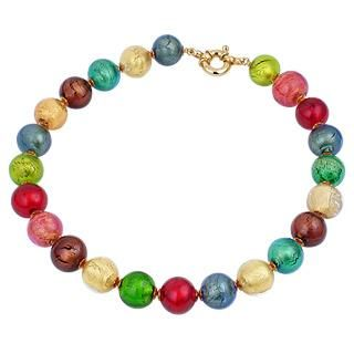 later look out for 50% off Antica Murrina Collier Giada en perles Murano multicolores ...