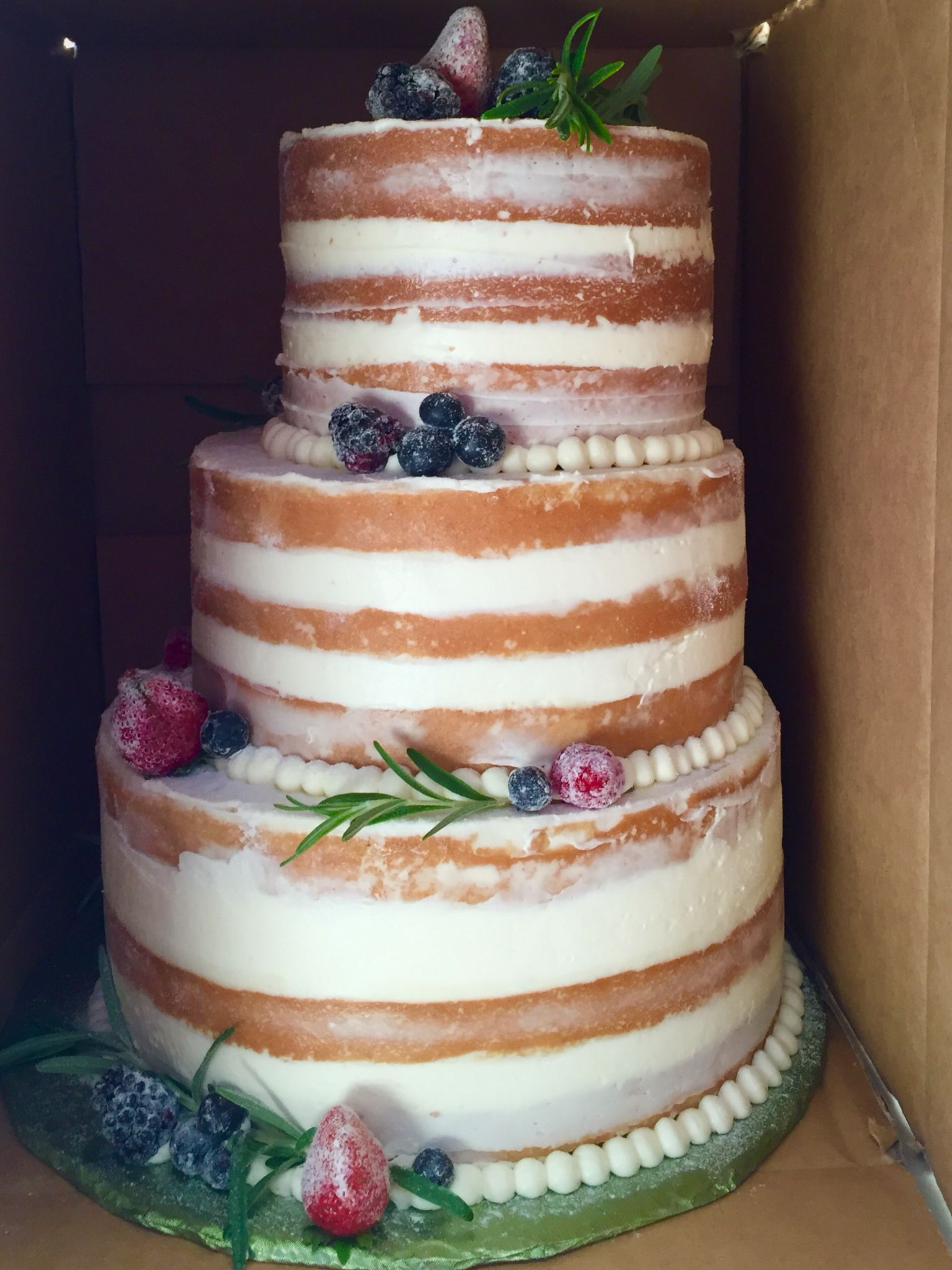 Gluten Free Naked Cake.