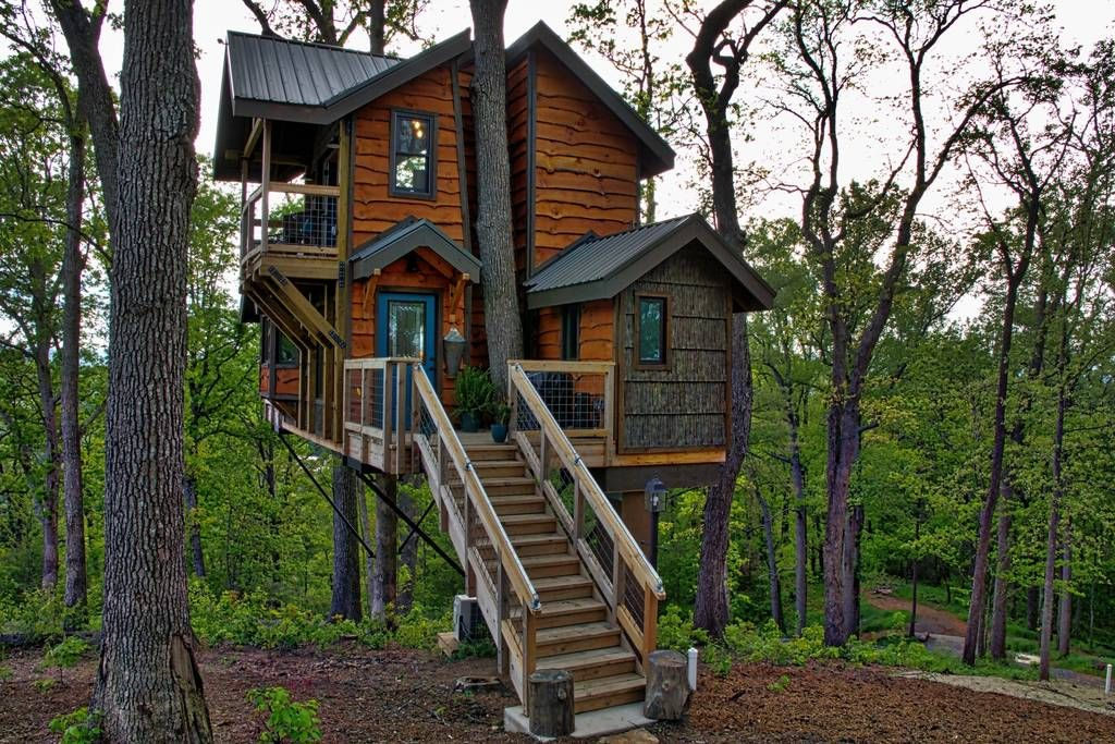 Charming Mountaintop Treehouse W/ Sunset Views!   Treehouses For Rent In Asheville,  North Carolina