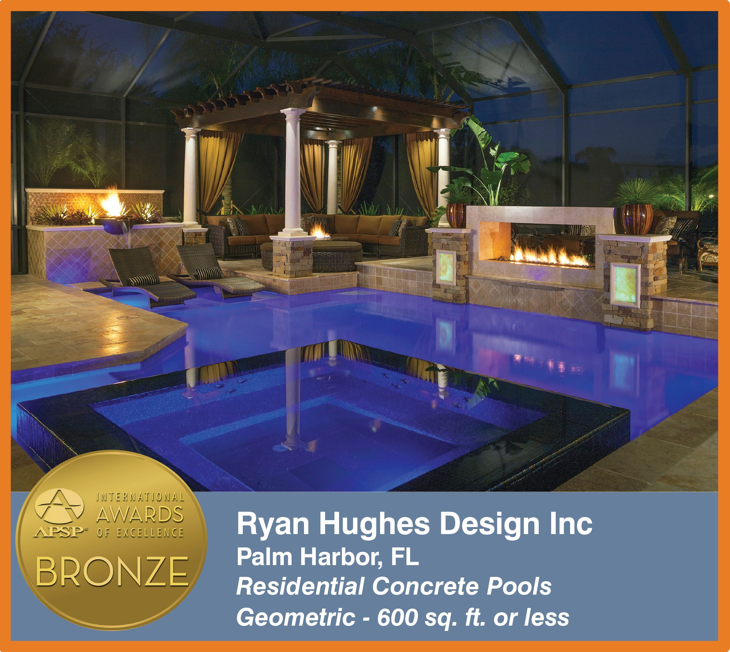 Ryan hughes design build receives four prestigious awards 2015 apsp international awards of excellence competition