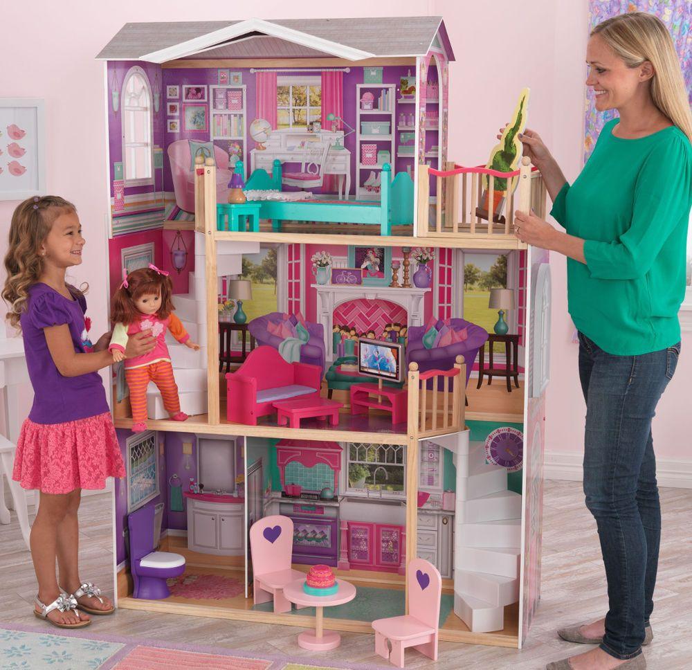 wooden barbie doll furniture. KidKraft Huge Large Lifesize Elegant Doll House 18\ Wooden Barbie Furniture L