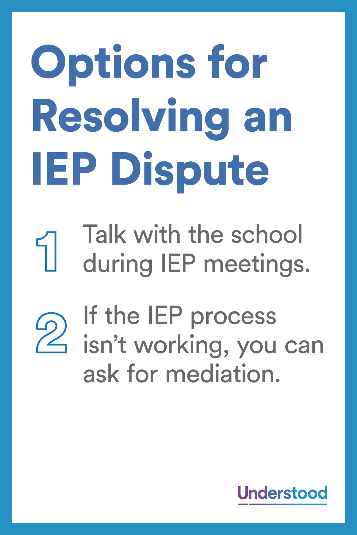 6 Options For Resolving Iep Dispute >> 6 Options For Resolving An Iep Dispute Ieps 504 Plans And Special