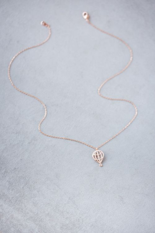 Hot air balloon necklace in gold, rose gold, and silver. | Clothes ...