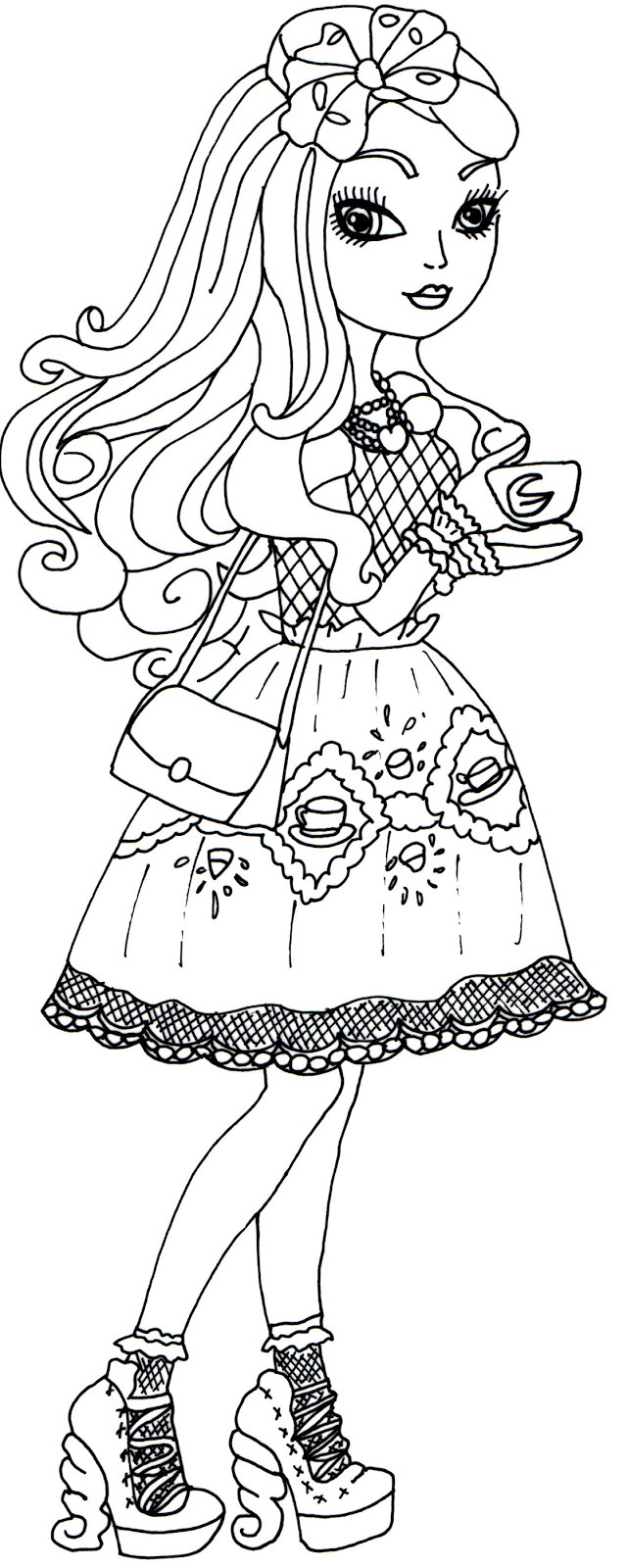 Free Printable Ever After High Coloring Pages: Apple White | Pages ...