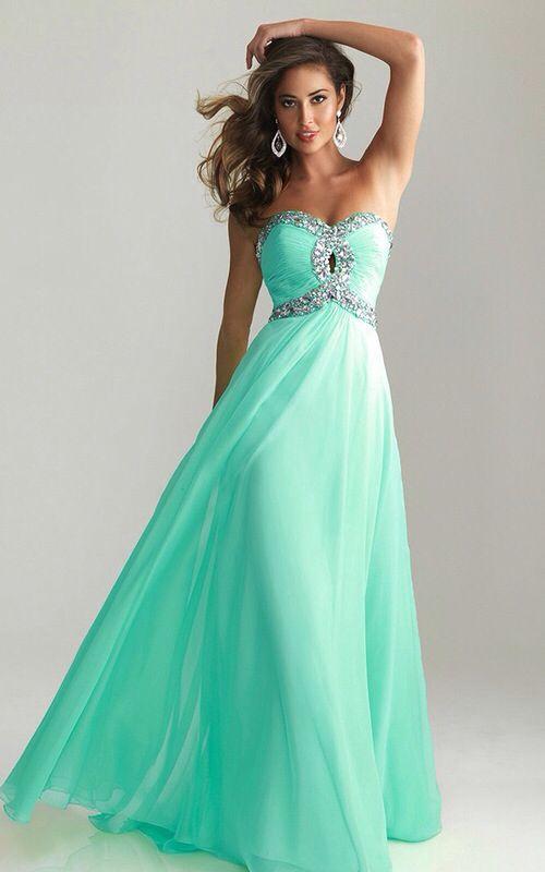 Aqua Long Formal Dresses for Juniors