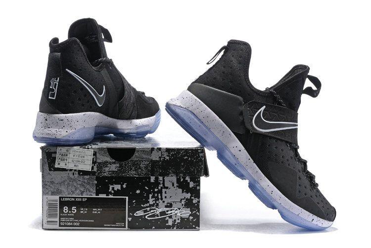 Latest LBJ Sneakers Cheap Black White Lebron 14 XIV Black Ice