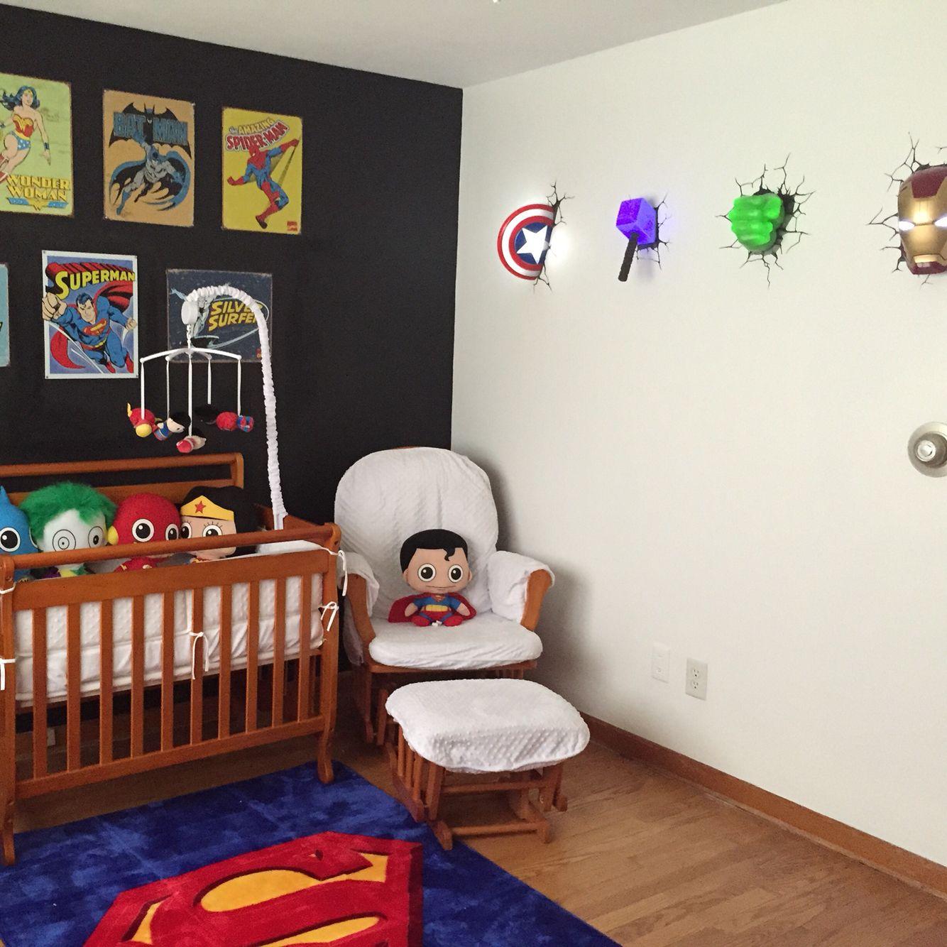 Baby Nursery Superheroes Avengers Marvel Superman Baby Boy · Spatz JungsKinderzimmerBabyzimmer ...