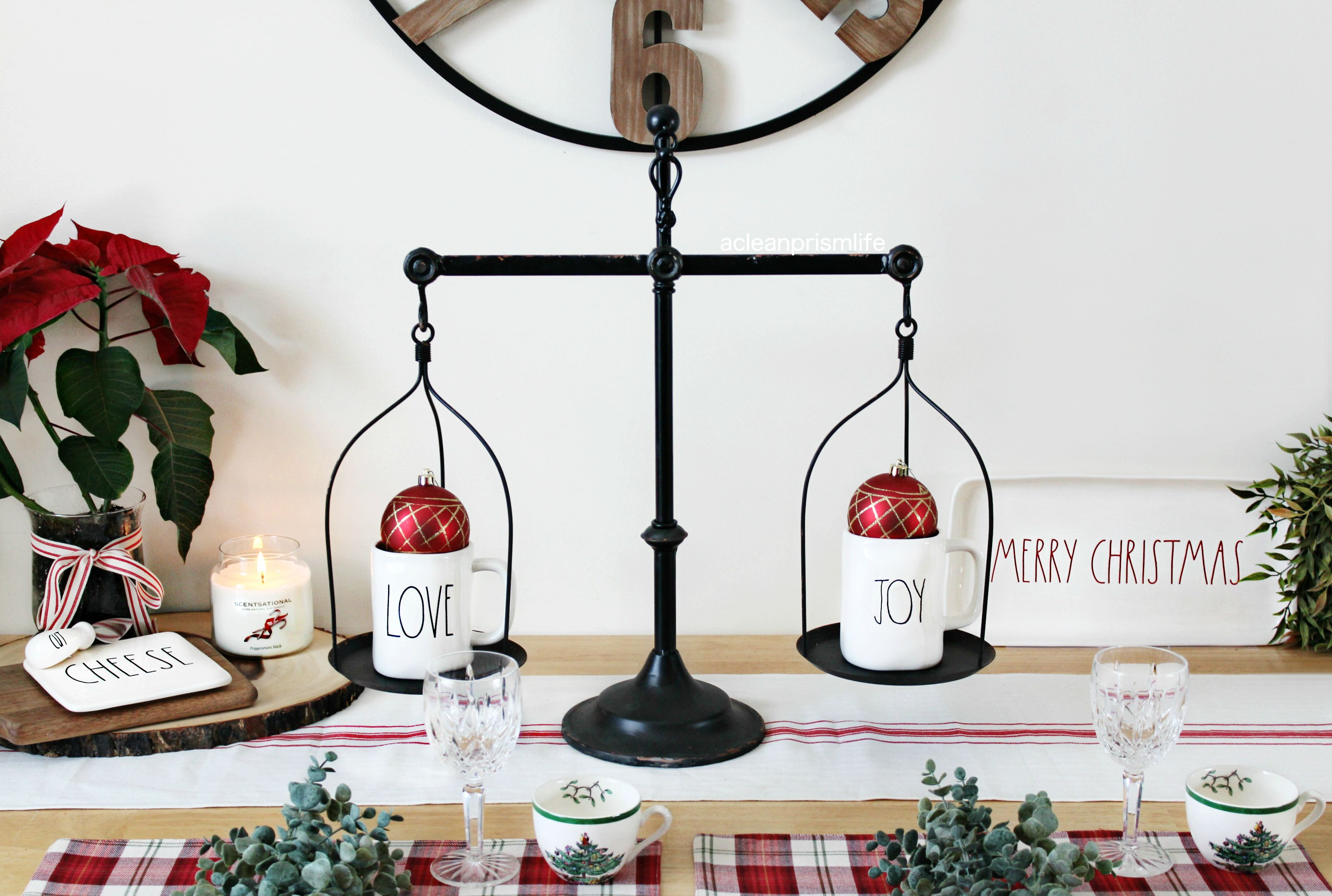 Vintage scale decor steals christmas decorations holiday