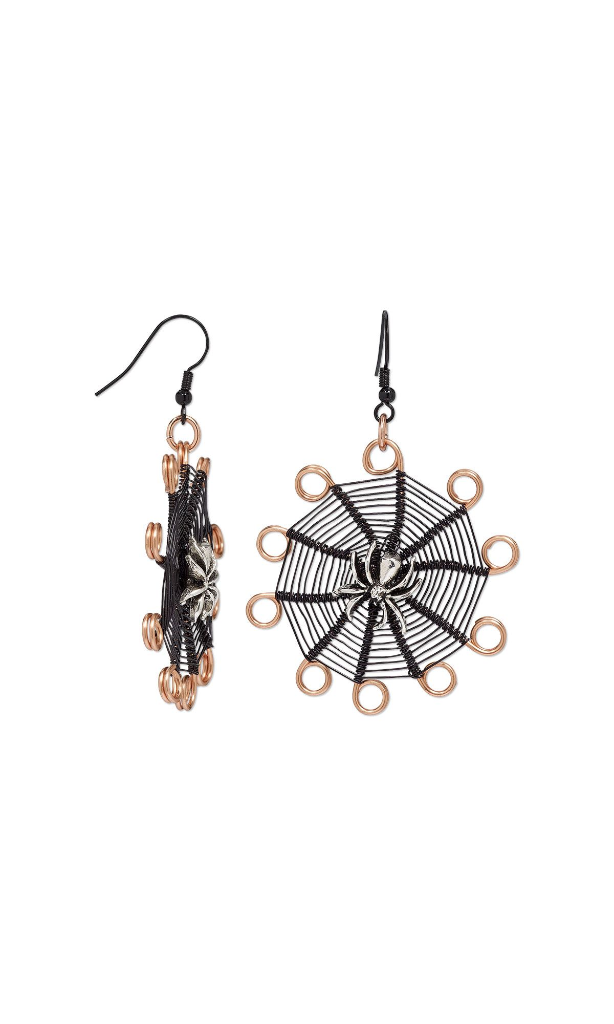 Jewelry Design - Earrings with Antiqued Pewter Bead and Wirework ...