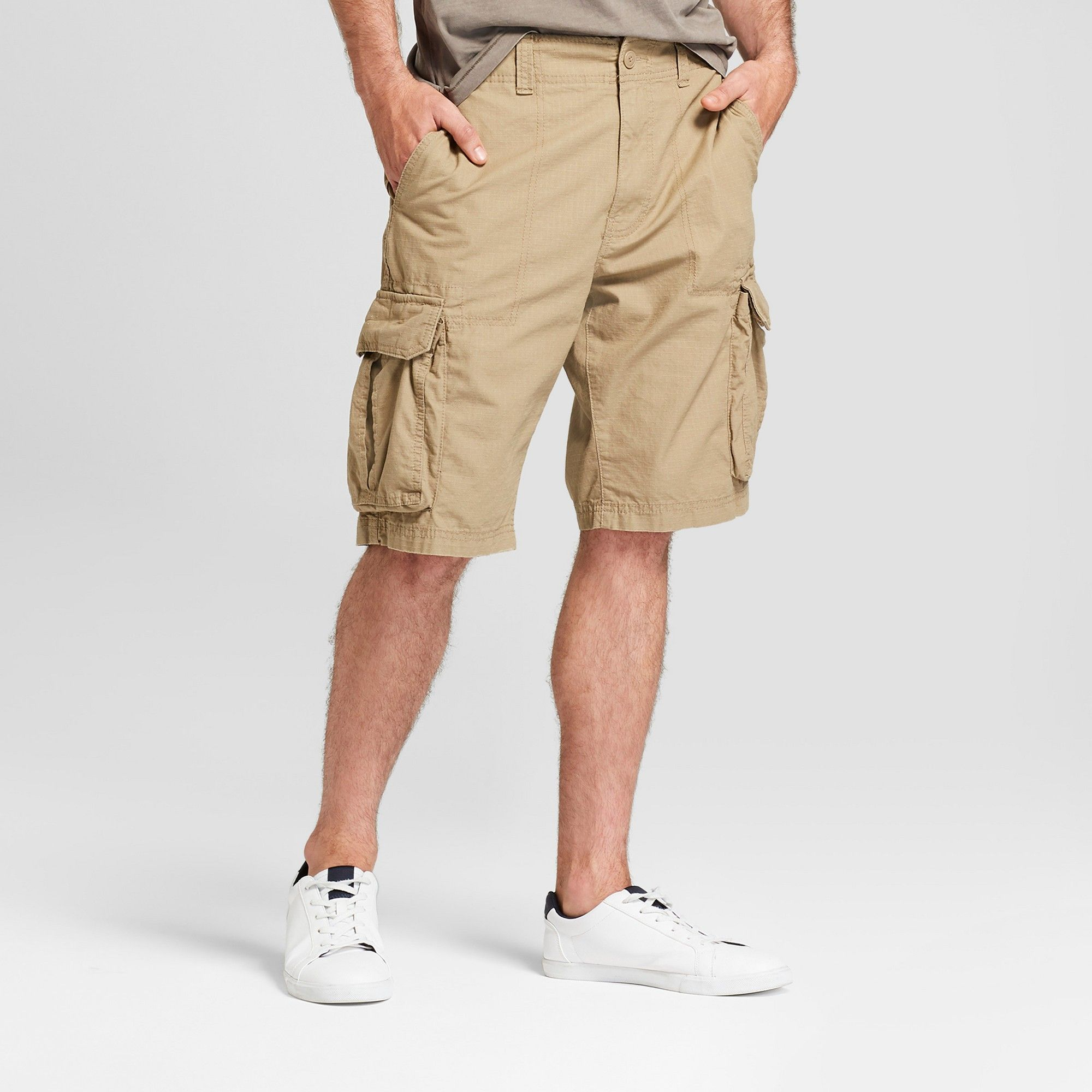 1ed451b8bd Men's 11 Ripstop Cargo Shorts - Goodfellow & Co Sculptural Tan 32 ...