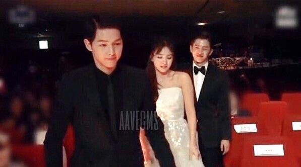 song hye kyo 송혜교 宋惠敎 ♡ song joong ki 송중기 kikyo couple kim min suk 김민석 aka SONG minsuk at 52th baeksang awards 06.03.2016