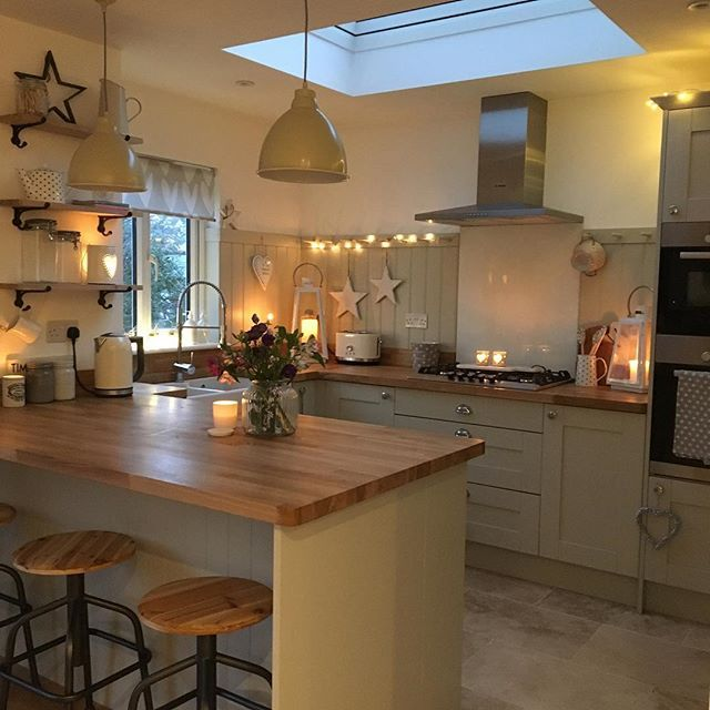 How Cosy Is The Kitchen Looking This Evening Isn T It Just Freezing This Evening All Of Our New Cushions Kitchen Design Small Kitchen Design Home Kitchens