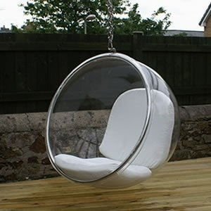 Eero Aarnio Bubble Chair With White Seat Cushion. Designer Seating,http://