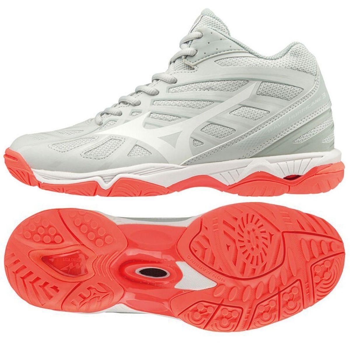 Buty Mizuno Wave Hurricane 3 Mid W V1gc174560 Biale Biale Mizuno Shoes Shoe Laces Shoes