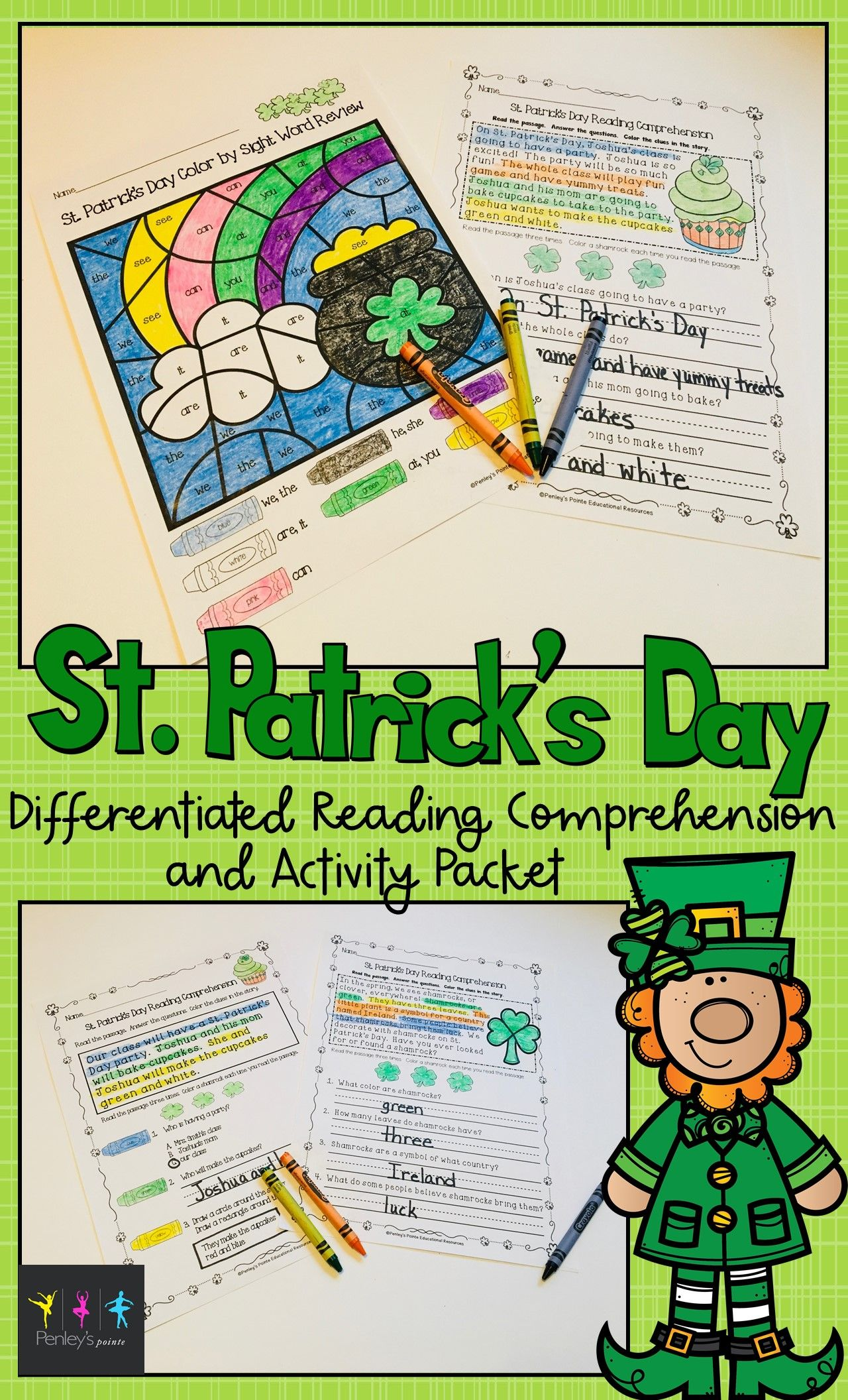 St Patrick S Day Reading Comprehension And Activity