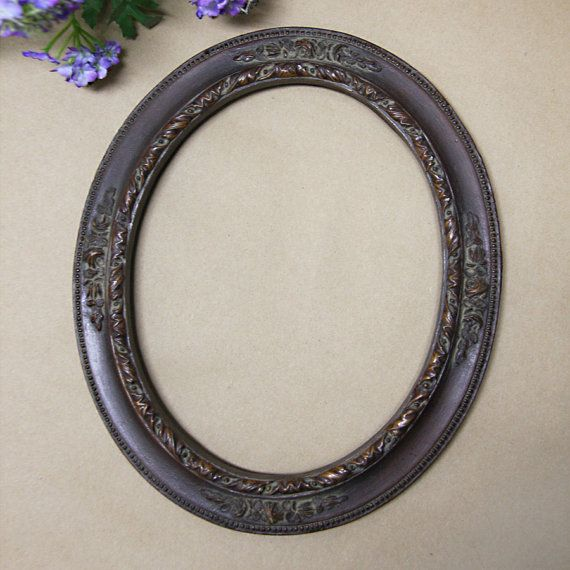 Vintage Wood Oval Frame - 8x10 | Mary\'s Collection | Pinterest ...