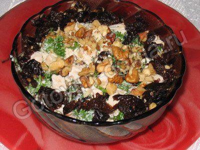 курица с черносливом салат рецепт с фото