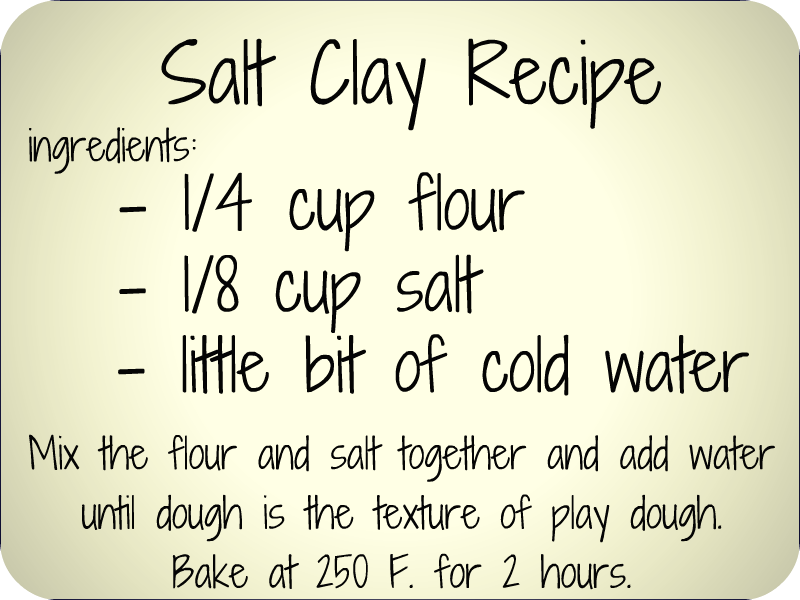 diy salt clay recipe Great for jewelry andor ornaments OR salt