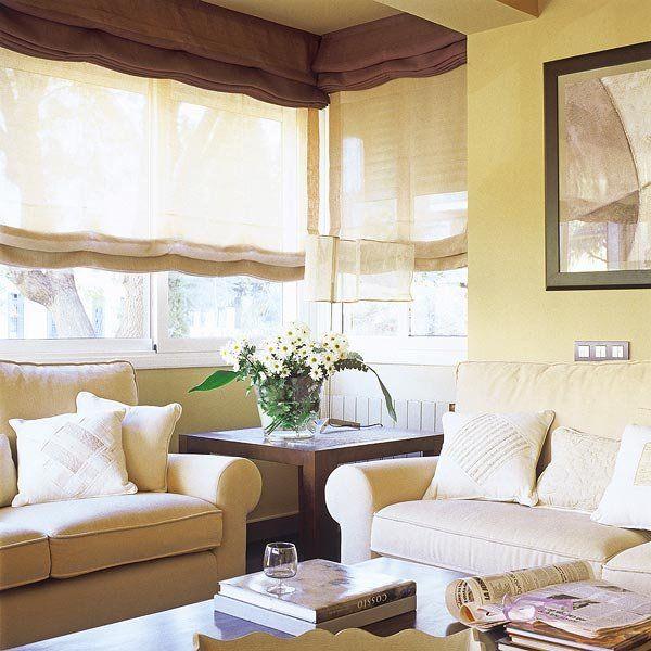 Cortinas y estores para cada tipo de ventana estor for Cortinas salon comedor