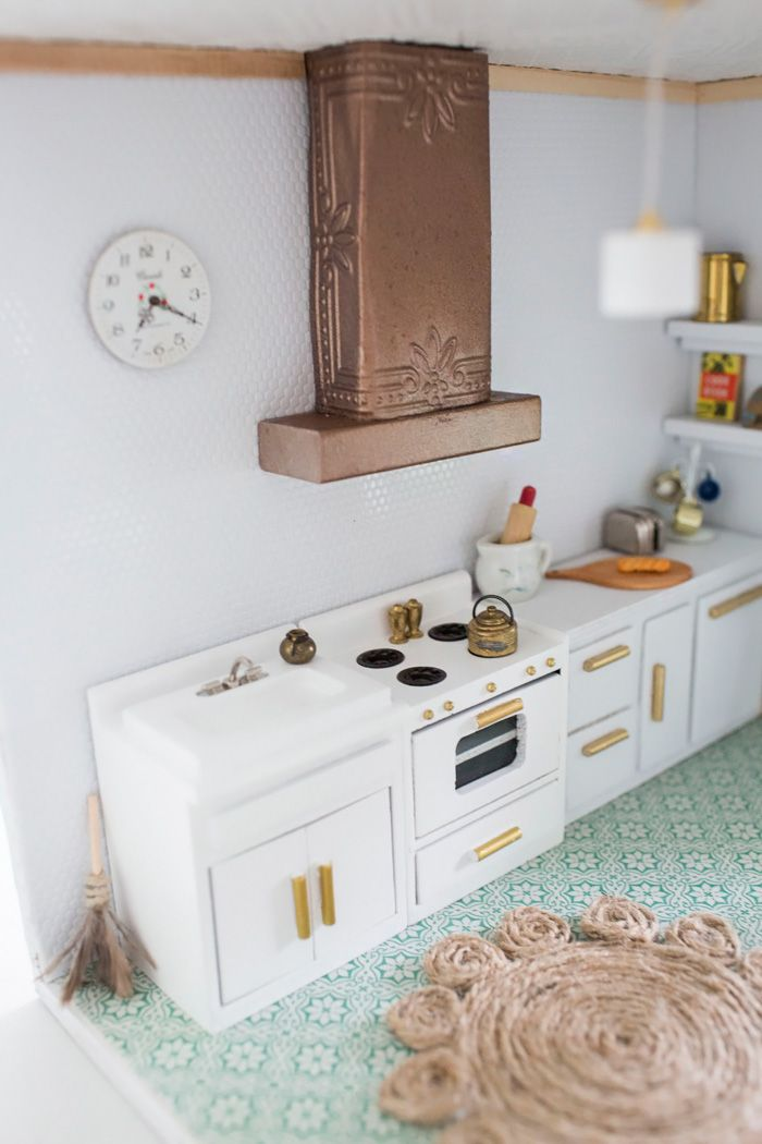Thoughts From Alice Dollhouse Kitchen Reveal Diy Copper Range