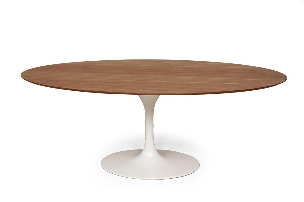 48 Round Or 78 Oval Saarinen Style Tulip Dining Table Walnut