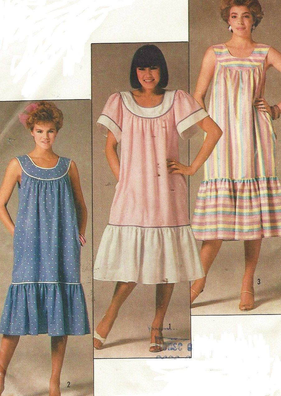 80s Simplicity Sewing Pattern 6904 Womens Easy to Sew Dress Summer ...