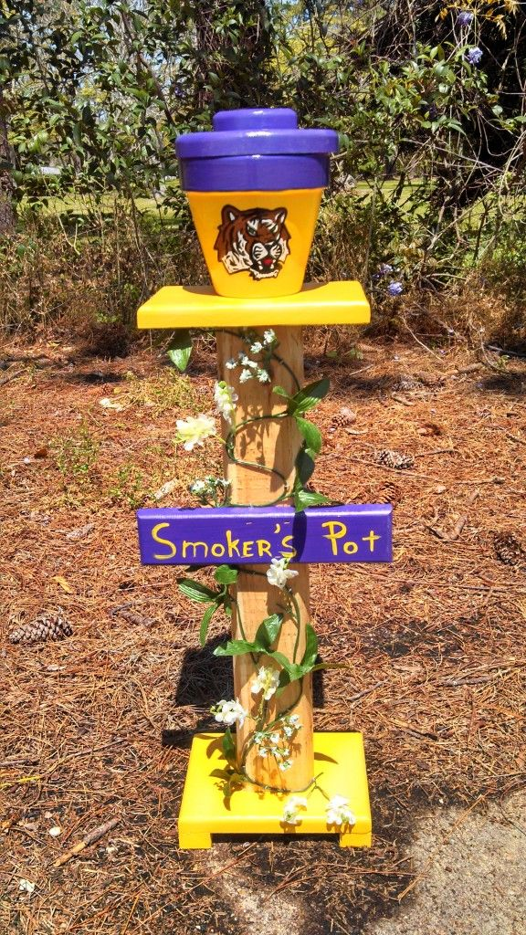 Pittsburgh Steelers Outdoor Standing Ashtray By Designedbydj