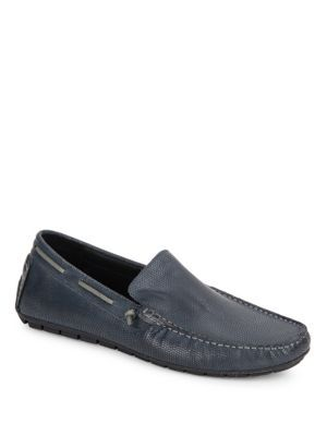 KENNETH COLE Textured Leather Boat Shoes. #kennethcole #shoes #shoes