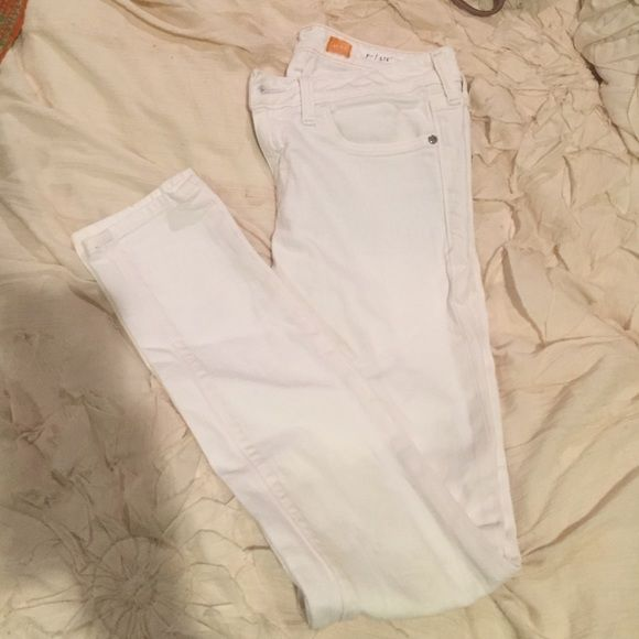 45b3023b233d5 Anthropologie white denim jeans piloro My favorite Anthropologie white denim  they re a size 25