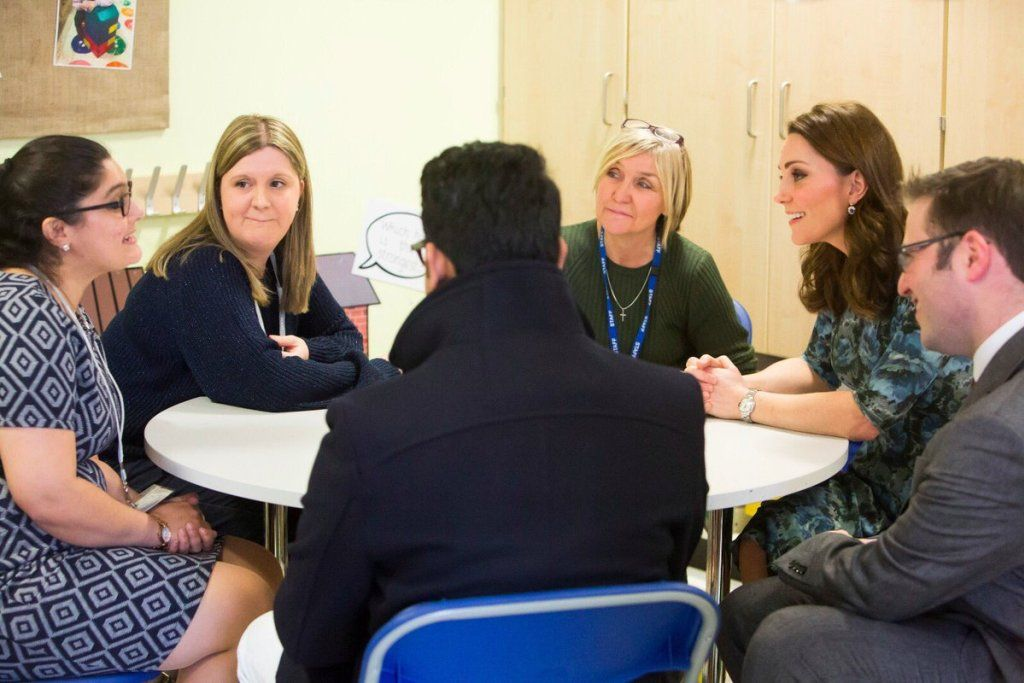Duchess of Cambridge meets therapy puppy during visit to Reach Academy • The Crown Chronicles