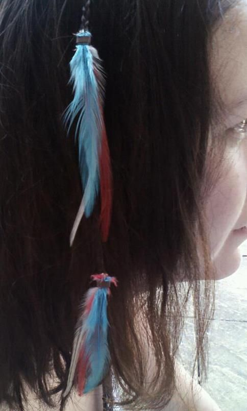 Jubilee feather braid www.featherpunks.co.uk