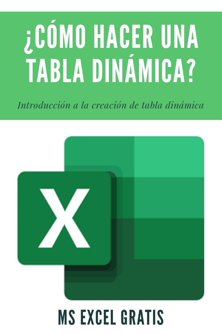 Cómo Hacer Una Tabla Dinámica Tabla Dinámica Trucos De Excel Informatica Y Computacion