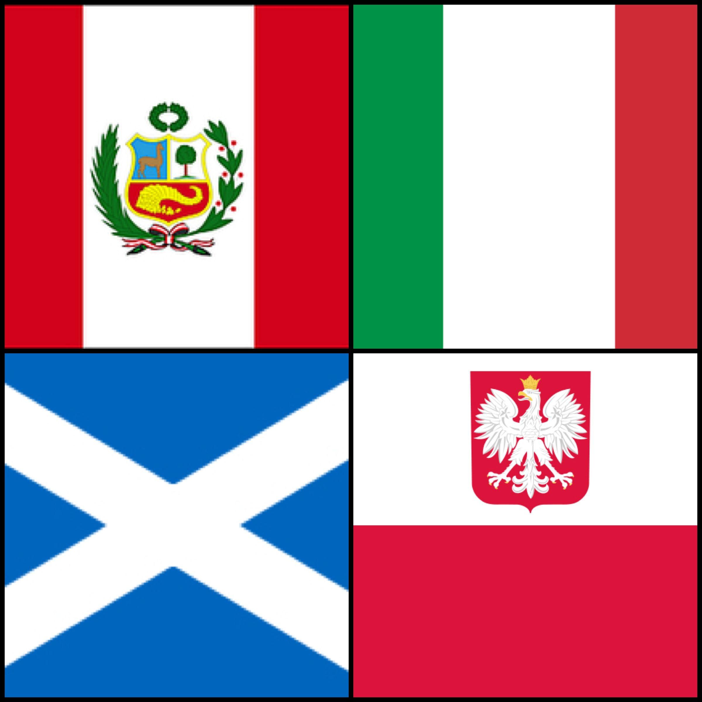peruvian flag italian flag scottish flag u0026 polish flag to be