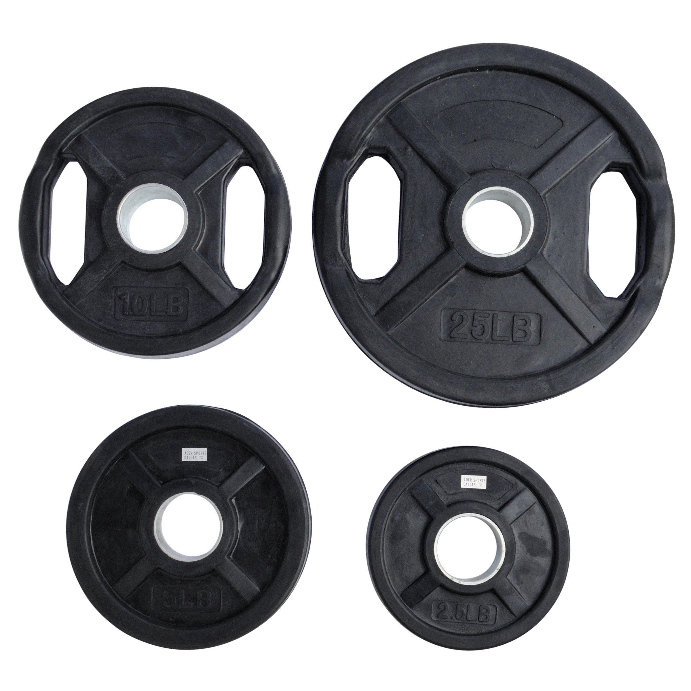 Pair of 5 Lb Grip Plates NEW Fitness Gear Olympic Size Barbell Weights