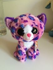 5988662fa61 NEW ty beanie Boo Reagan Pink Leopard Cat Claires EXCLUSIVE Soft toy Plush  SALE