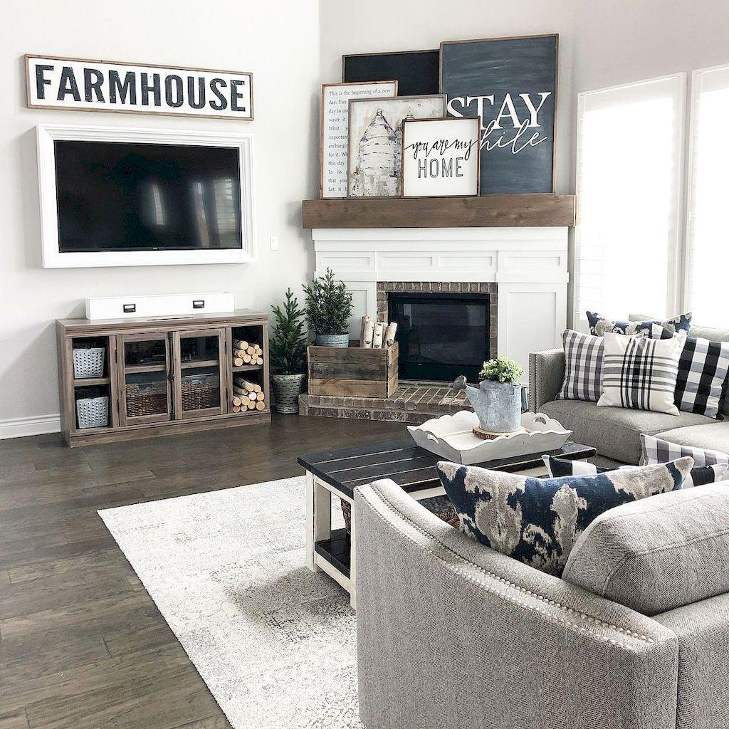 41 Rustic Modern Farmhouse Living Room Decorating Ideas