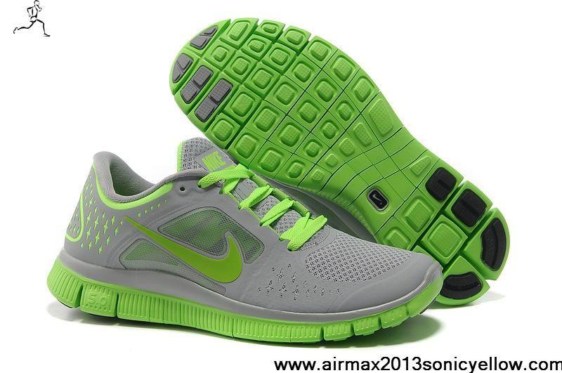 3bb45877adb7 Cheap Discount 510642-502 Mens Nike Free Run 3 Nike Free Run 3 Wolf Grey  Electric Green Men s Shoes Shop