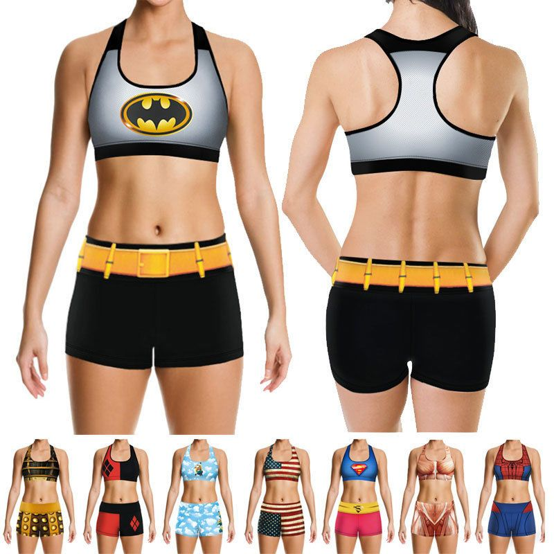 c1f2435821c02 Women s Gym Outfit Sport Bra   Pants Slimming Fitness Stretch ...