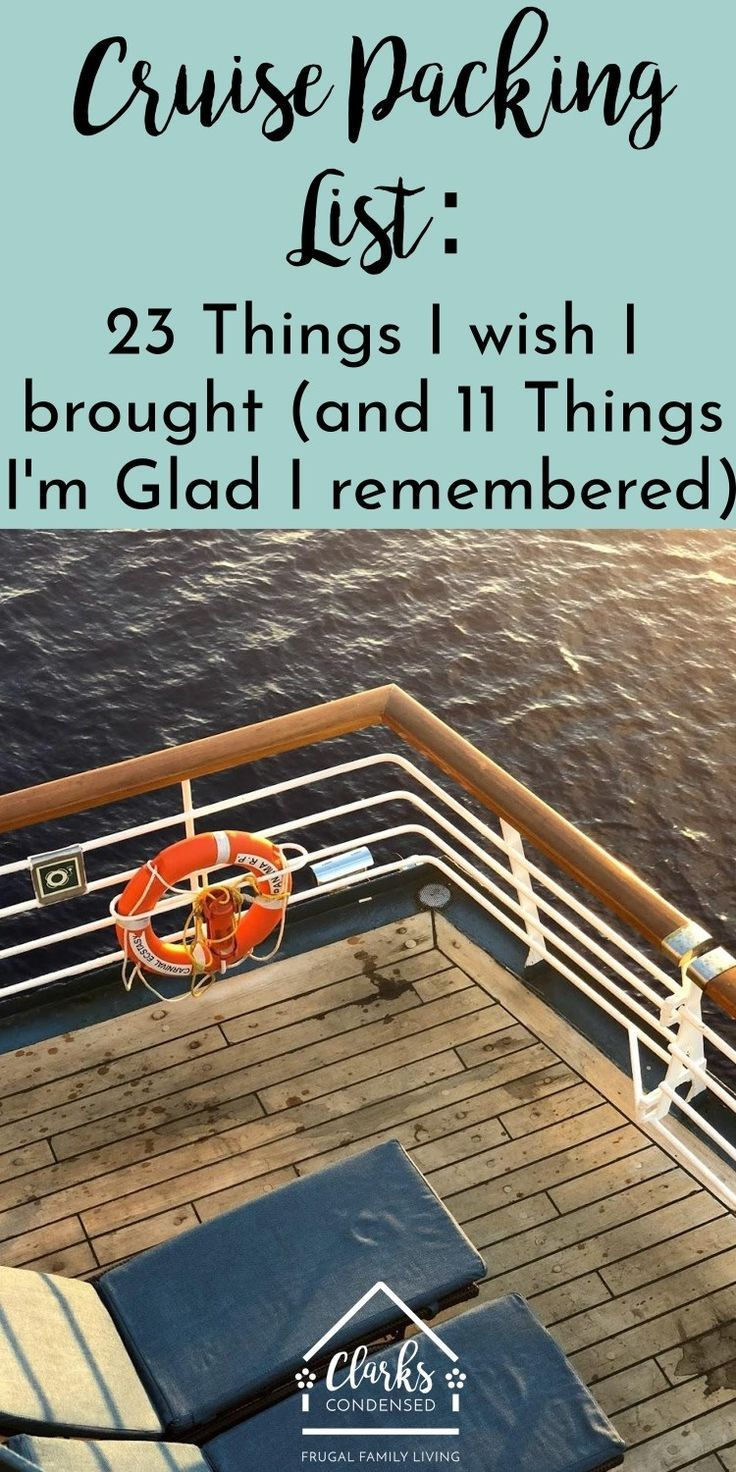 22 Things I Wish I'd Packed for My Cruise (and 11 Things I'm Glad I Did) - Clarks Condensed